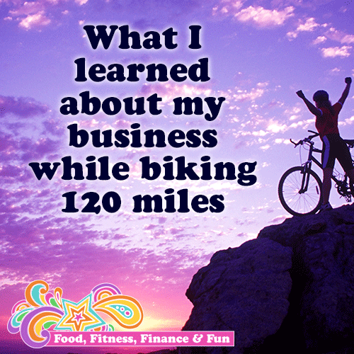 BLOG POST :: What I learned about my business while biking 120 miles