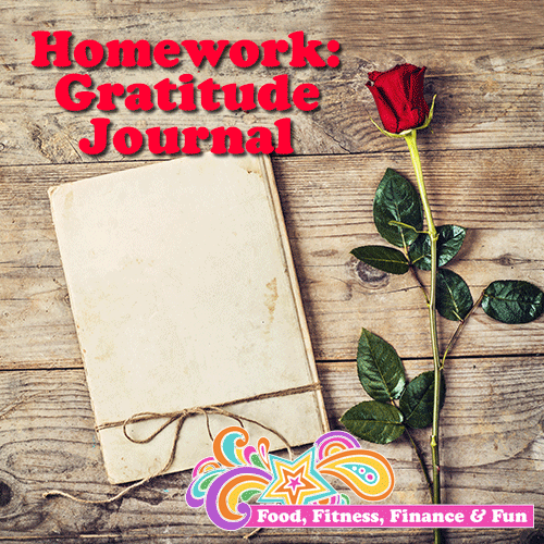 Homework: Gratitude Journal