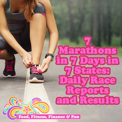 7 Marathons in 7 Days in 7 States: Daily Race Reports and Results